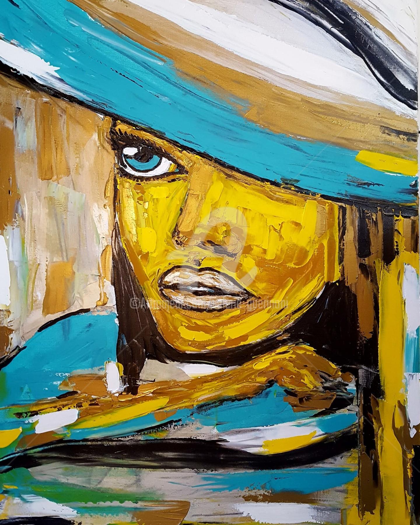 """Valérie Guerinoni - """"La femme au chapeau""""."""